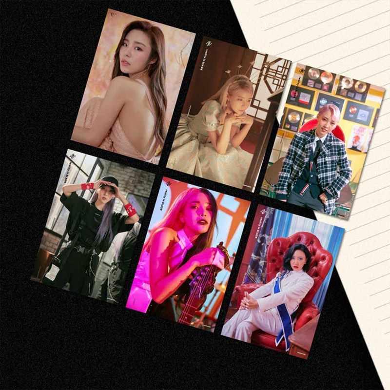 Kpop mamamoo現実黒アルバム溶融写真バージョン学生カードバスpvcクリスタルカードステッカー 18 ピース/セット