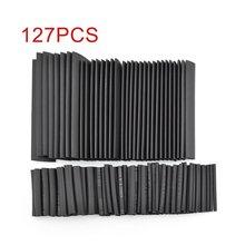 цена на 127/328/530PCS Black Shrink Tubing Environmentally Friendly Flame Retardant Shrink Tube Heat Shrinkable Tube
