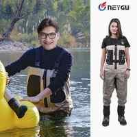 Männer Atmungsaktive Jagd Waders für Fly angeln, Wasserdicht Rafting Wader mit Neopren Socken, angeln Wader für Kalten Wasser Spielen