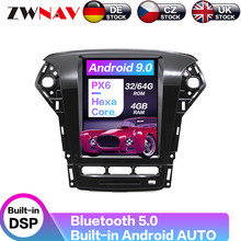 Carplay DSP Android 9 PX6 Vertical Tesla Radio Screen Car Multimedia Player Stereo GPS Navigation For Ford Mondeo MK4 2011-2013 carplay dsp android 9 0 px6 vertical tesla screen radio car multimedia player stereo gps navigation for gac trumpchi gs4