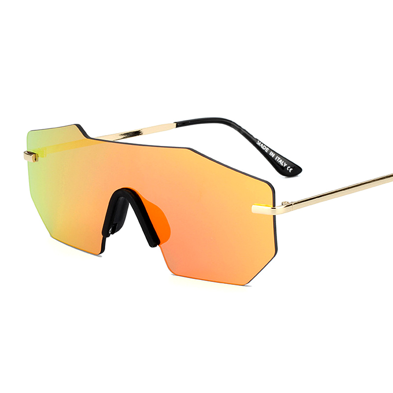 MOUGOL fashion UNISEX polarized sunglasses men women brand designer retro rimless mirror frameless one piece driving glasses