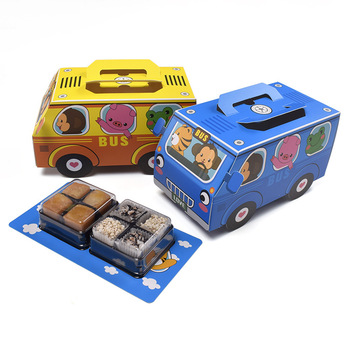 Bus shape Candy Box Animals In The Car Cake Packaging Box Gift Bag for Kids Birthday Party Cars Back To School Party Decorations