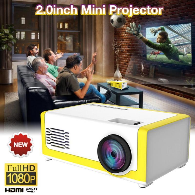 Dropship portátil mini projetor 1080p suporte 1080p mini projetor para casa av usb portátil bolso beamer projetor de cinema em casa-2
