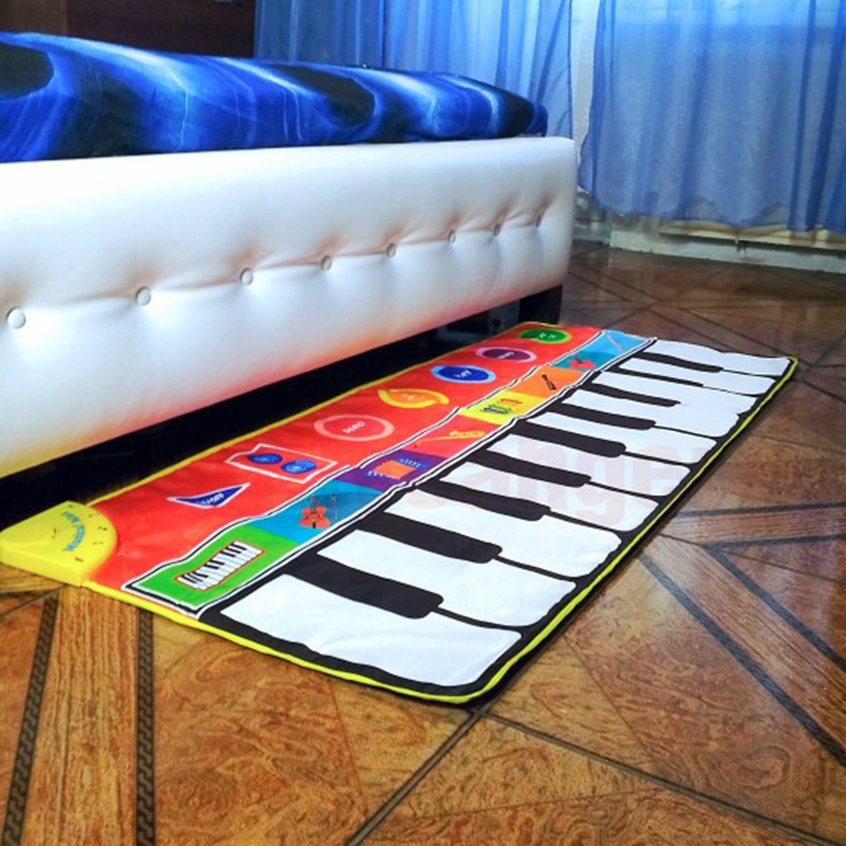 Hbea3af22b6a34f0c9b7fa1e5ac756caeo Large Size Musical Mat Baby Play Piano Mat Keyboard Toy Music Instrument Game Carpet Music Toys Educational Toys for Kid Gifts