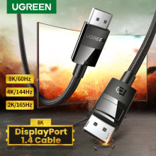Ugreen 8K DisplayPort 1.4 kabel 8K @ 60Hz Ultra szybki 32.4 gb/s DisplayPort do DP dla Lenovo Dell Monitor do gier PC DP kabel