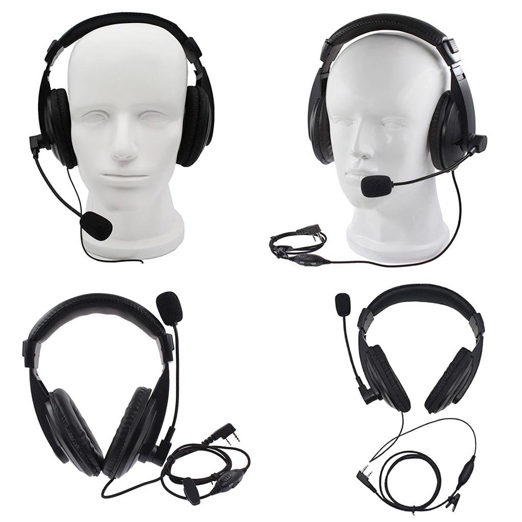 2x PTT MIC Headphone Headset For Baofeng 777S RT21/22/5R RD/5R/A 888S/82HP
