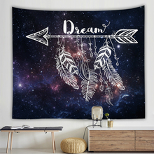 Colorful Feather Arrow Wall Cloth Tapestries Psychedelic Bohemian Indian Elephant Print Tapestry Home Decoration Blanket Towel
