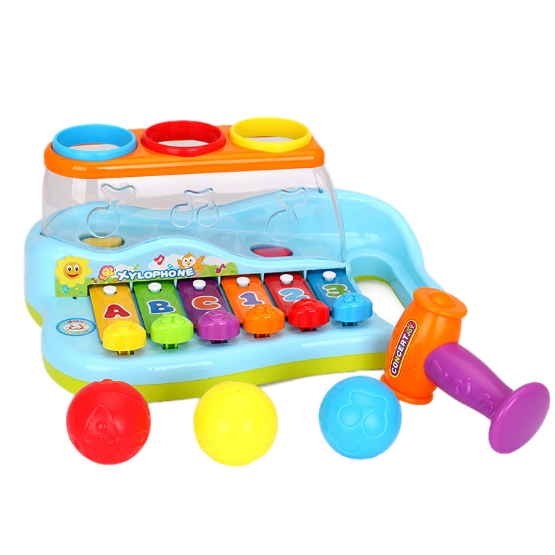 Rainbow Xylophone Piano Pounding Bench For Kids With Balls And Hammer ,Babies Piano Toys ,Best Toddler Gift,Toy For 1-3 Year Old