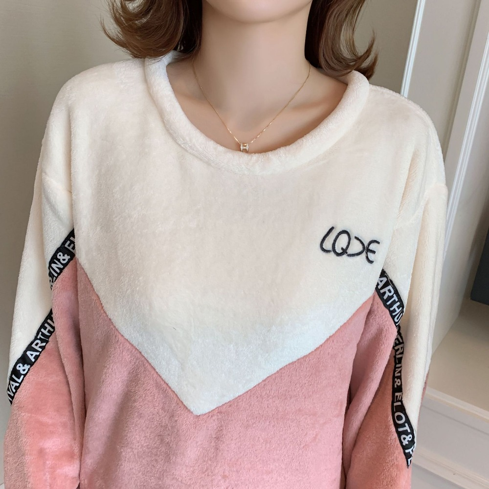 Betyline 2019 New Winter Pajamas For Women Sleepwear Warm Flannel Long Sleeves Pajamas Cute Animal Homewear Thick Homewear 134