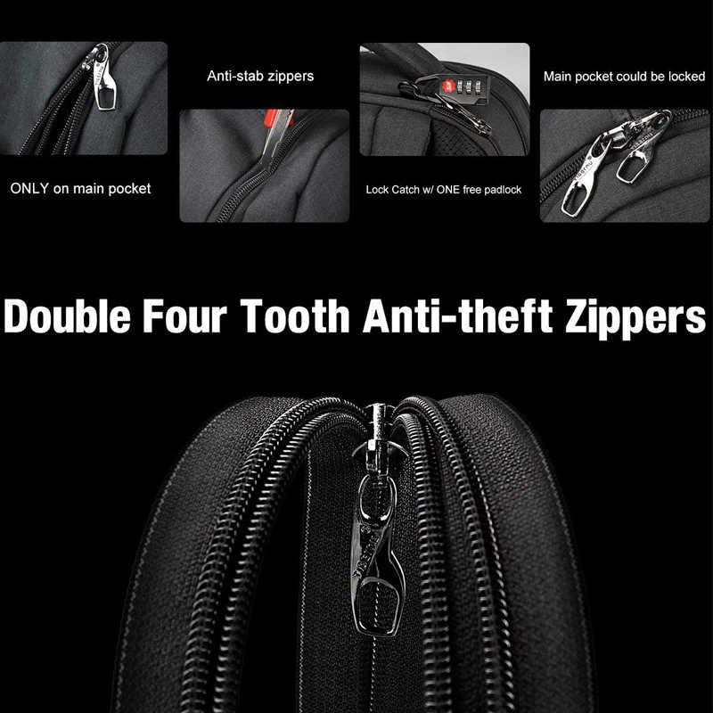 Tigerنو العلامة التجارية الذكور mochila 15.6 محمول على ظهره الرجال usb حقيبة ظهر للسفر كبيرة ضئيلة مقاوم للماء مكافحة سرقة حقيبة مدرسية النساء
