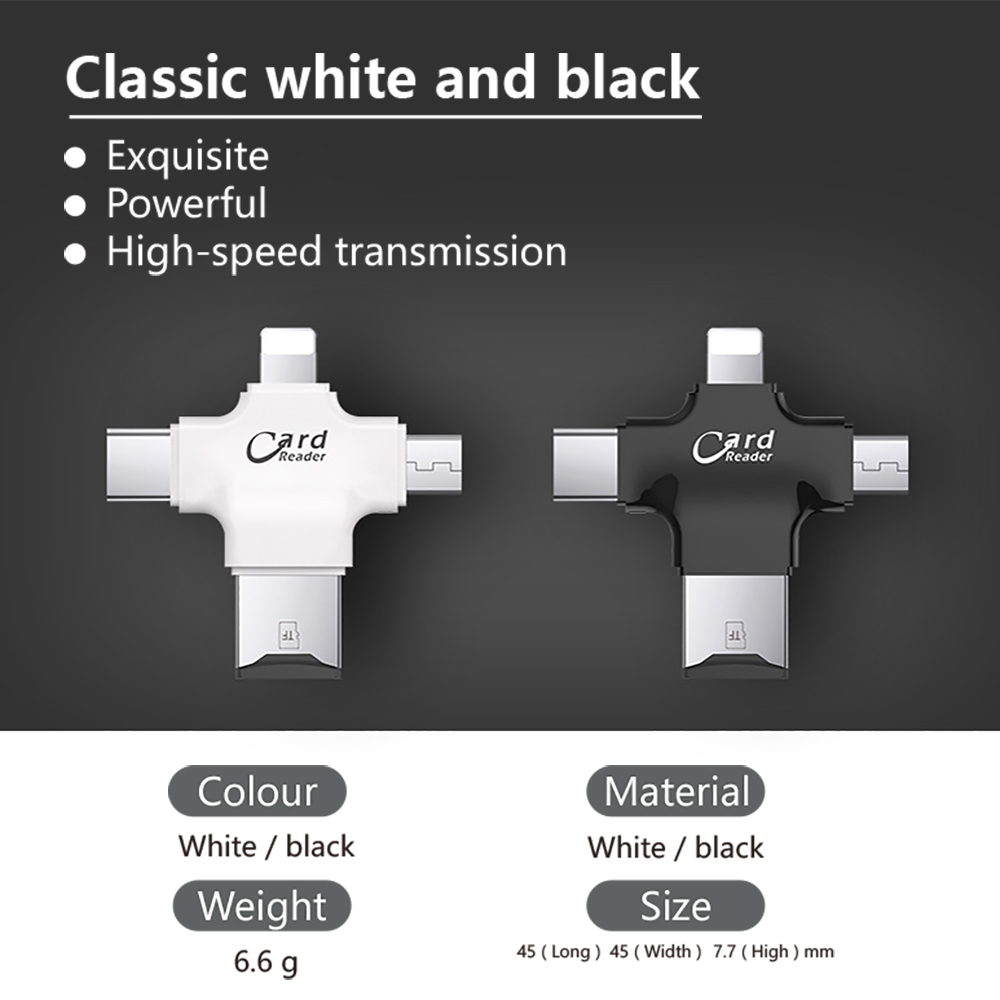 USB i-Flash Drive HD Micro SD/TF Memory Card Reader Adapter For iPhone iPad iPod iphone 5 6 7 type c card readers lighting 2