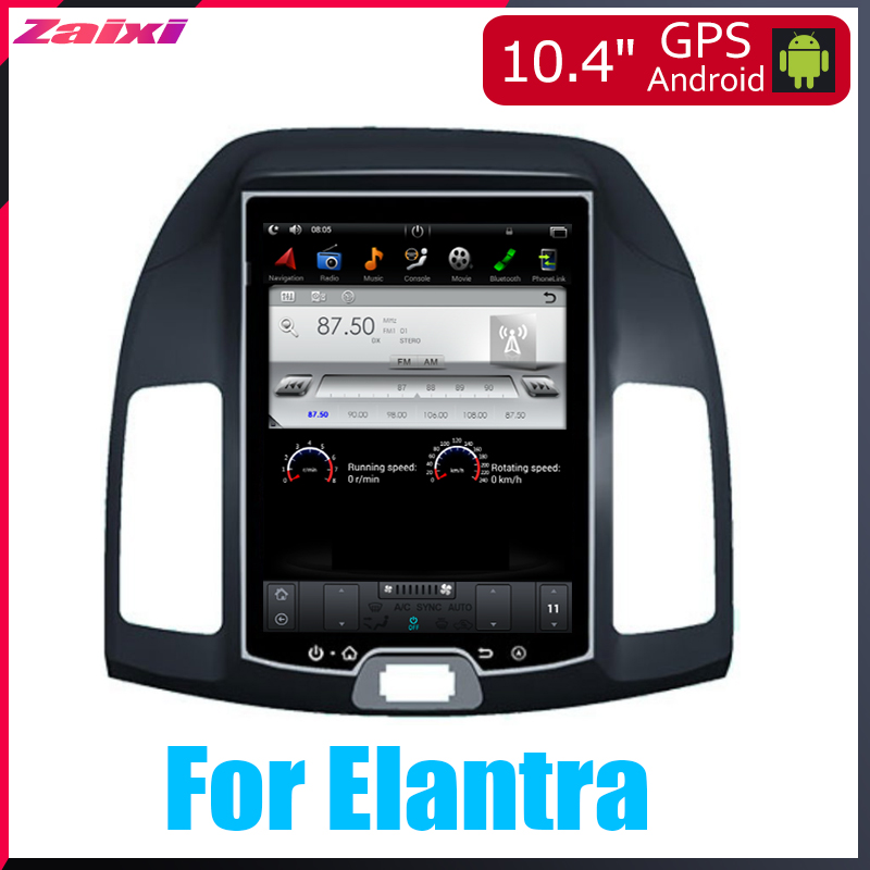 Android Car Multimedia <font><b>GPS</b></font> For <font><b>Hyundai</b></font> <font><b>Elantra</b></font> 2007 2008 2009 2010 2011 2012 Radio vertical screen tesla screen Radio Video image