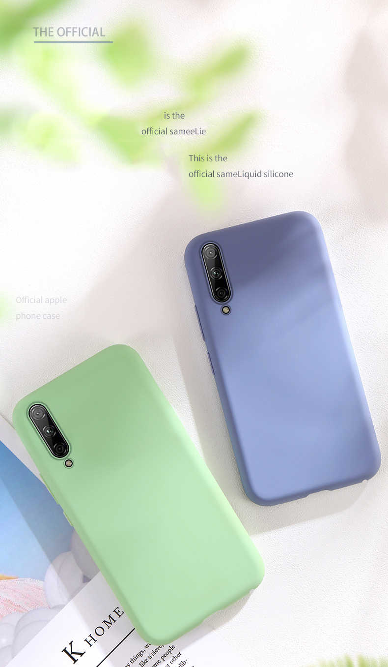 Solid Color Silicone Case for Huawei P20 Lite P Smart 2019 P30 Pro Mate 20 Case for Honor 8X Nova 3i 9 Lite 10 20 Pro Y5 Y9 case