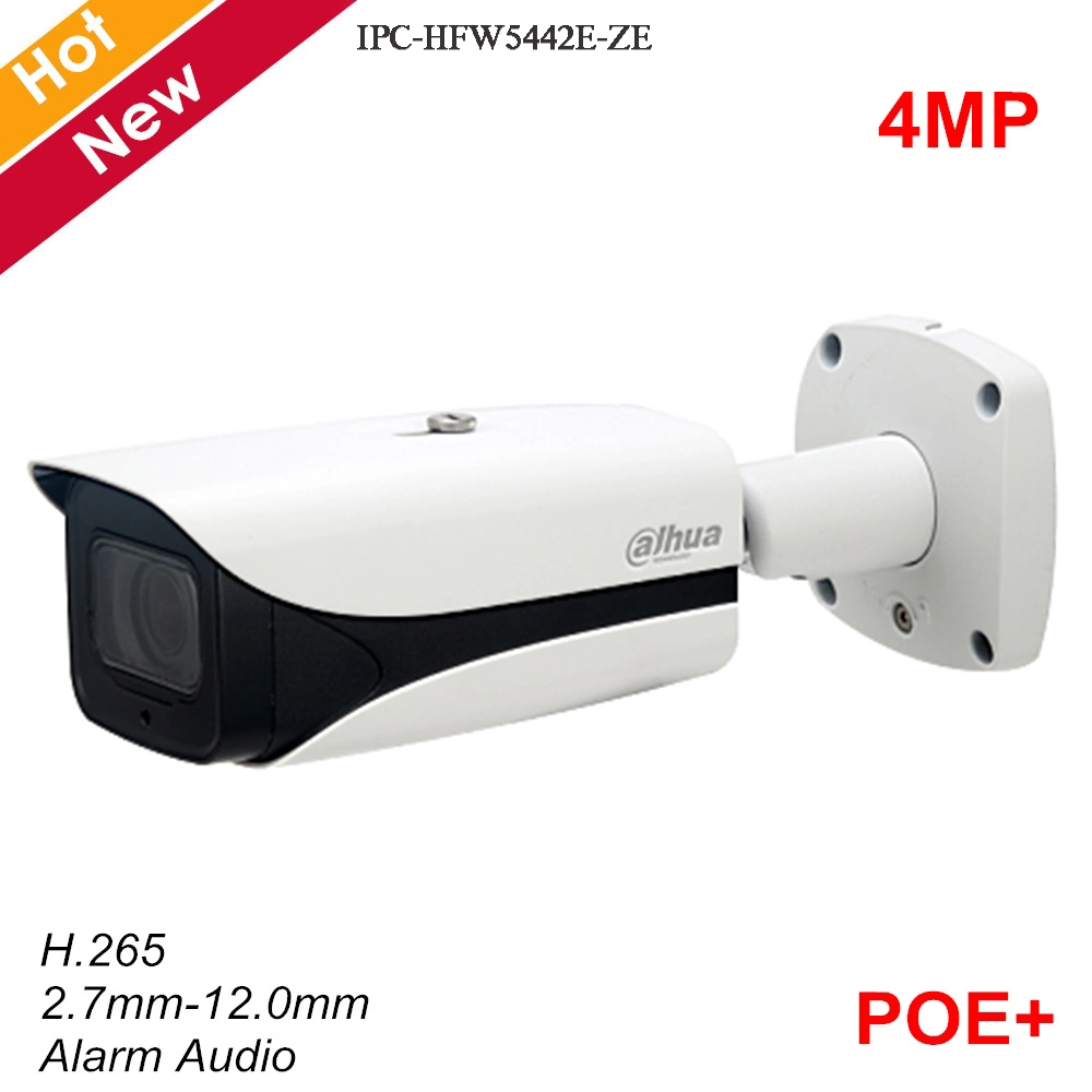 Dahua New 4MP Poe Network Security Camera IP67 H.265 Motorized lens 2.7mm-12.0mm IR 50m Support Alarm Audio SC Card IP Camera