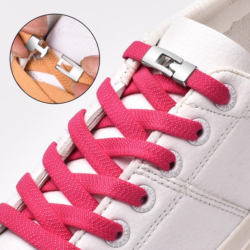 Shoelaces Sneakers Strings Cross-Buckle Elastic Adult No-Tie New Unisex 1-Second-Quick