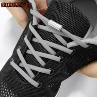 1 paire lacets paresseux rapide rond élastique pas de lacets de chaussure pour enfants et adultes baskets lacet