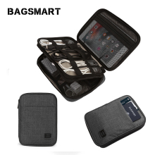 BAGSMART Double-Layer Travel Cable Organizer Electronics Accessories Cases for Cables, iPhone, Kindle Charge, Camera Charger