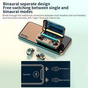 Image 3 - חדש F9 TWS Bluetooth אוזניות 5.0 טעינת תיבה עמיד למים אלחוטי אוזניות 8D סטריאו ספורט אוזניות Microphoe עבור טלפון חכם