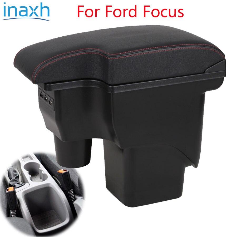Подлокотник для Ford Focus 2 mk2, модифицированные детали для автомобилей Ford Focus 2, центральный ящик для хранения USB