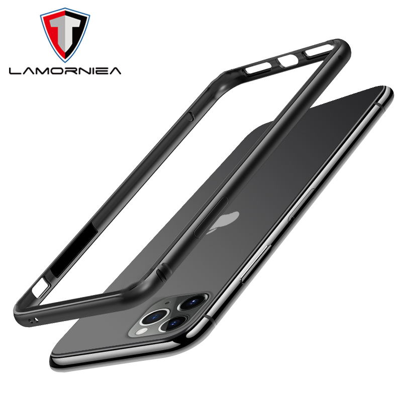Lamorniea Aluminum <font><b>Bumper</b></font> <font><b>Case</b></font> For <font><b>iPhone</b></font> 7 6S 8 <font><b>XS</b></font> Max XR 11 Pro Max <font><b>X</b></font> S Max XR Luxury Metal Frame Soft Edge Shockproof <font><b>Bumper</b></font> image
