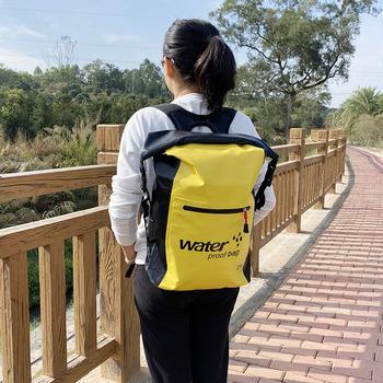 25L wodoodporny plecak worek do przechowywania worek Rafting Riving sport kajakarstwo kajakarstwo podróży pcv odkryty pływanie suchy Ocean Pack tanie i dobre opinie LONGHIKER CN (pochodzenie) Do przepraw przez rzekę