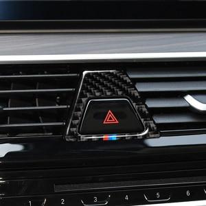 Image 5 - In Fibra di carbonio M Stile Attenzione Luce Pulsante Coperture Della Decorazione Della Decalcomania Auto Interni per BMW 5 Serie G30 G38 528i 530i 2018