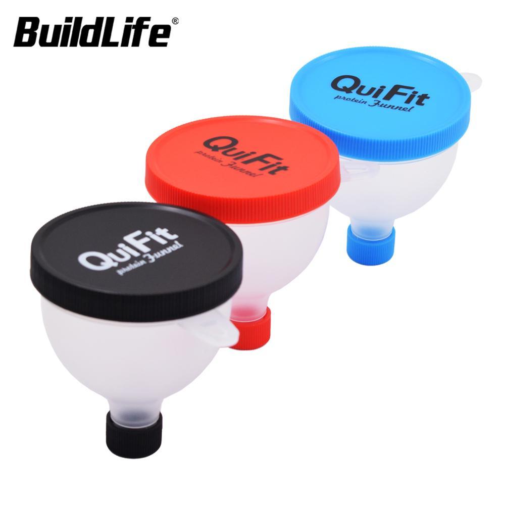 Шейкер-воронка BuildLife, 2-х слойный контейнер для белкового порошка, многофункциональный контейнер для хранения молочного порошка, 2 в 1 коробк...