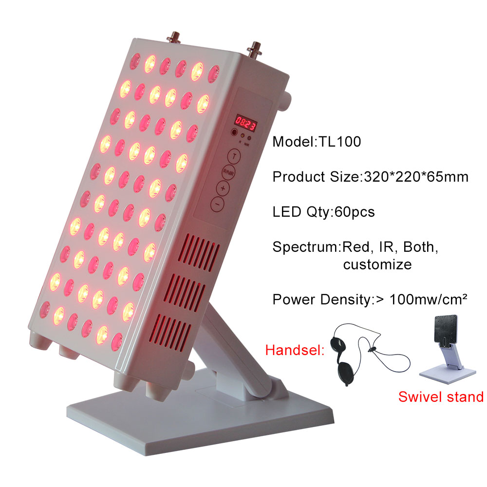 Red Near Infrared LED Light Therapy 660nm 850nm TL100 Time Countdown Display For Anti-aging And Pain