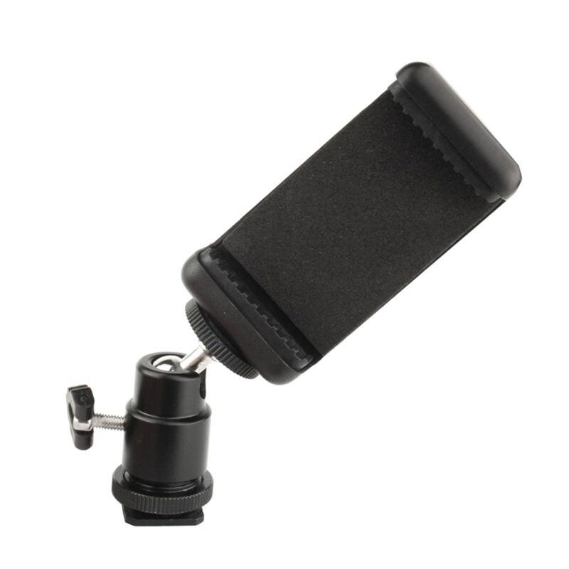 Hot Shoe Adapter Phone Clip Bracket Holder Mount For DSLR Camera Cellphone 1Set