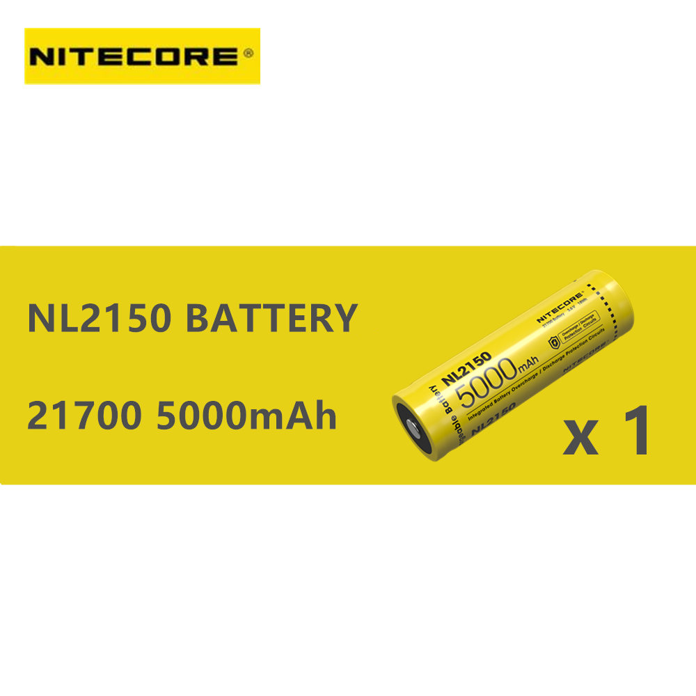1 Pcs Of NITECORE 21700 Rechargeable Battery NL2140 / NL2145 /  NL2150