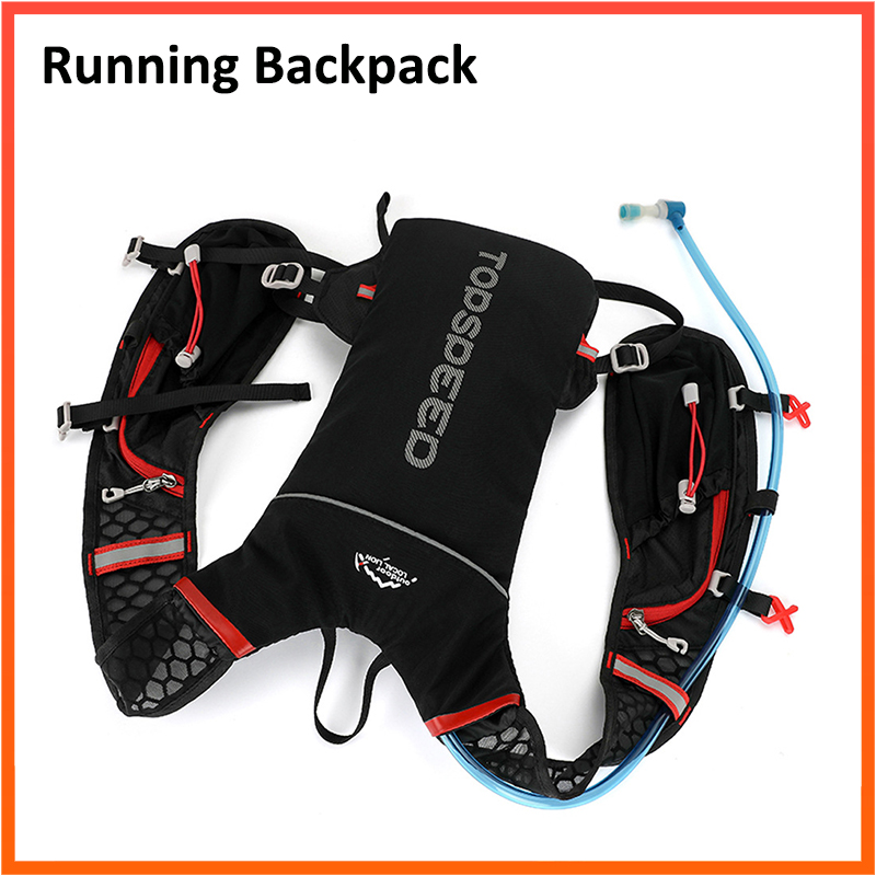 Running Backpack 5L For Motor Bike Reflective Safety Backpack Hydration With 2L Water Bag Sport Outdoor Jogging Cycling Bag