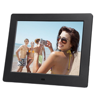 7Inch TFT LCD Digital Photo Movies Frame Wide Screen Desktop With LED Light Flash MP3 MP4 Player Alarm Clock Picture Frames