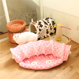 Image 3 - Dual Use Pet Cat Toy&Cat Bed Foldable Cat Tunnel House For Cat Small Dogs Cats Pet Products Lounger For Dogs Cat Training Toy