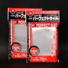 Kmc cartão transparente perfeito, proteção de cartões de jogo de tabuleiro e cartão pkm, película protetora de cartões 64x89mm