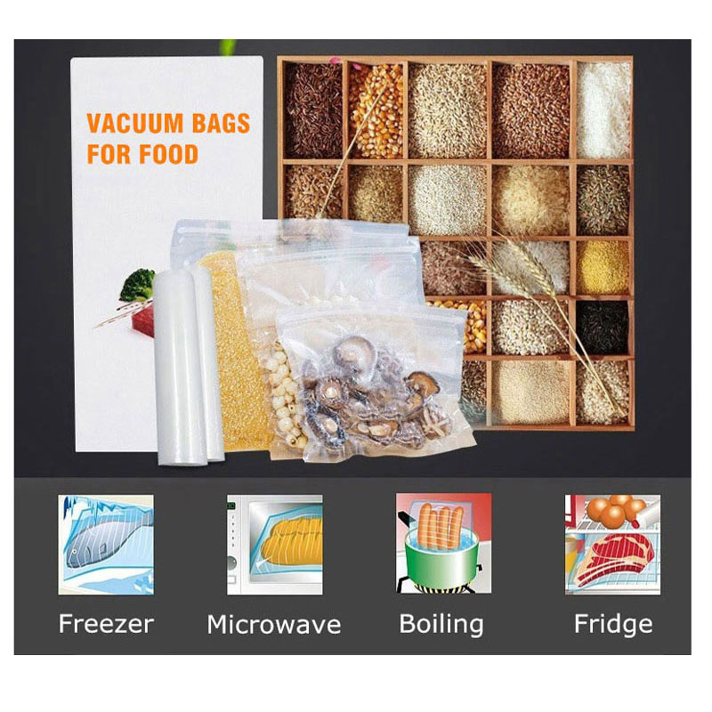 Taze Dünya Vakum Yapıştırma Makinesi Torbaları Gıda Depolama - Elektrikli Mutfak Aletleri - Fotoğraf 2