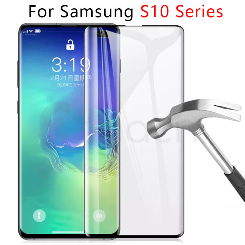 Tempered-Glass Protective-Film-Case Screen-Protector Samsung Galaxy S10e Note 9 S8-Plus