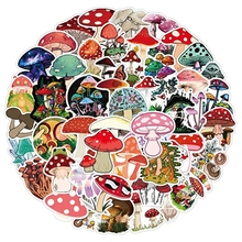 Waterproof Mushroom Waterbottle Stickers for Teens Boys Girls,Cute Cartoon Anime Stickers Pack for Computer Laptop 50pcs