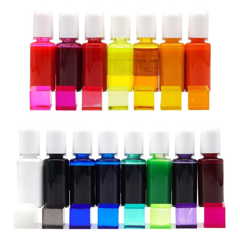 15 Colors Epoxy Pigment UV Resin Coloring Dye Liquid Colorant Glitter Fillings Handmade Jewelry Making DIY Crafts