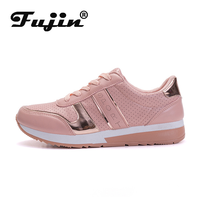 Fujin Large Size Leisure Shoes Dropshipping Female Spring Walking Shoes Female Student Single Flats Air Breathable Soled Shoes in Women 39 s Flats from Shoes