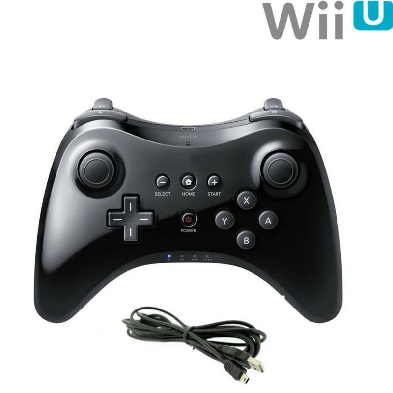 Controlador de jogo sem fio clássico joystick bluetooth gamepad para nintend wii u pro com cabo usb controlador sem fio