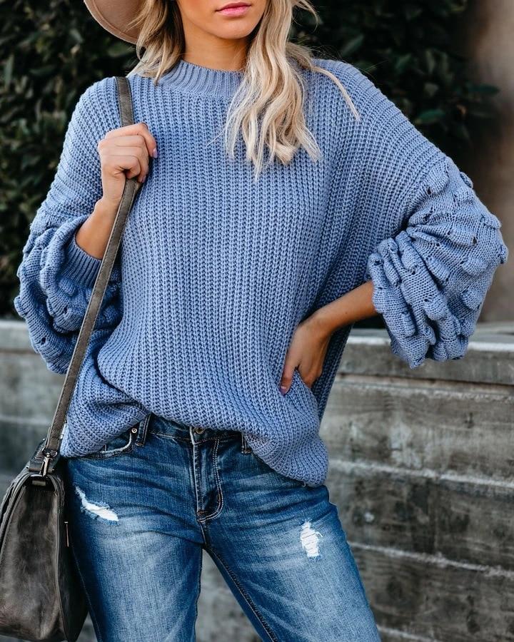 2021 Winter O-neck Women's Sweater 5