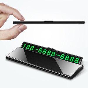 Image 2 - Teléfono de tarjeta de estacionamiento temporal hid de un solo clic, cajón ultrafino, accesorio para coche, placa de número de teléfono luminosa