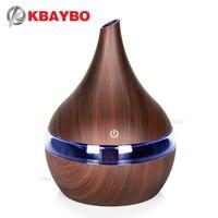 Aroma difusor de óleo essencial madeira mistmaker portátil usb umidificador de ar aroma difusor 300ml névoa difusor fogger ar vaporizador