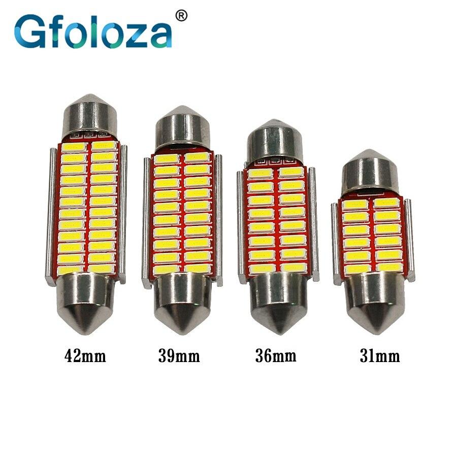 31//36//39//42mm LED Car Festoon Dome Door Bulb License Plate Light Reading Lamp