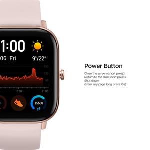 Image 5 - הגלובלי גרסה Amazfit GTS חכם שעון 5ATM עמיד למים Smartwatch 14 ימים סוללה GPS מוסיקה בקרת עור הסיליקון רצועה