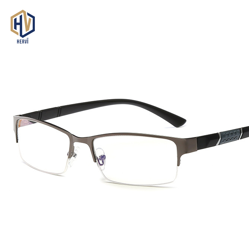Ultralight Reading Glasses Men Metal Half Frame Business Eyewears  Prescription Myopia Eyeglasses Degree -50 To -600