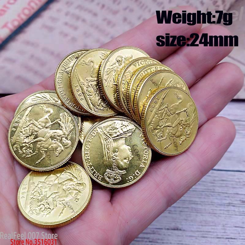 1778-1900 UK Great Britain Queen Victoria 23mm 13pcs Copy Coins Full Set Brass Sovereign Coin Collection Coin