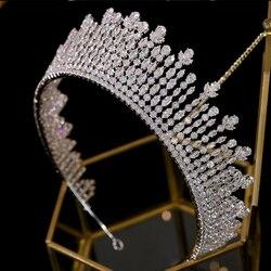 Asnora корона, تاج, تيارا, диадема, إكسسوارات الشعر الزفاف, الحلي الشعر, تاج طويل إكسسوارات الشعر A00616