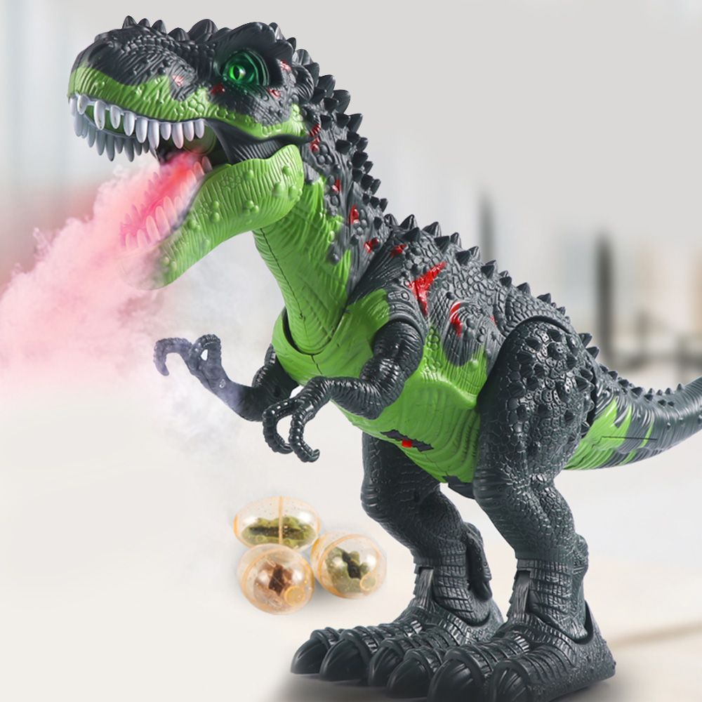 Electronic Remote Control Dinosaur Spray Eggs Tyrannosaurus Rex Dinosaur Model Toys Action Figure Animal Toy for Christmas Gift