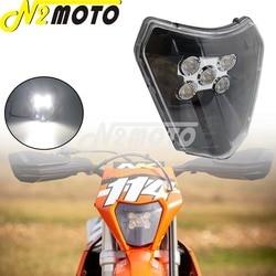 79614901000 xcw Motocross Farol LED para KTM EXC Enduro xc xc sx-f-w Seis Dias 125-450 690 Husqvarna LEVOU Cabeça Da Lâmpada de Iluminação E8